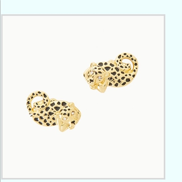 Lilly Pulitzer Jewelry - NWT Lilly Pulitzer cheetah earrings